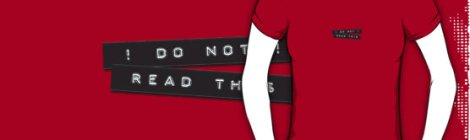 Do Not Read This Embossed Labels Black TShirt on Redbubble