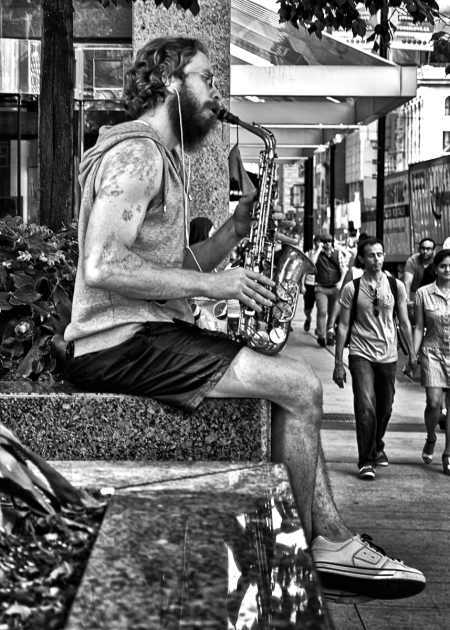 Saxophone On Yonge St